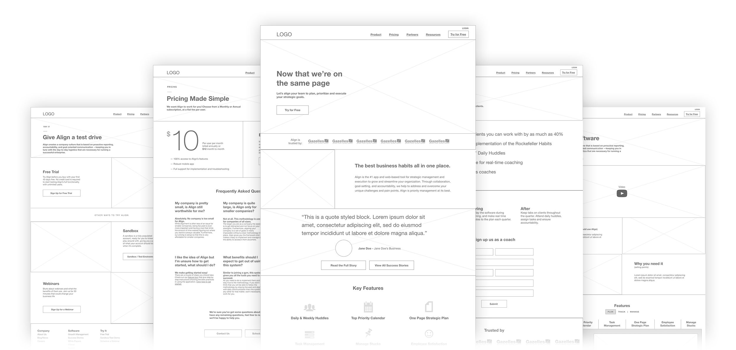 Align Wireframes - Deep Fried