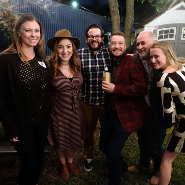 Val, Paige, Austin, Nathan, Gene and Sadie at the Deep Fried 15 Year Party