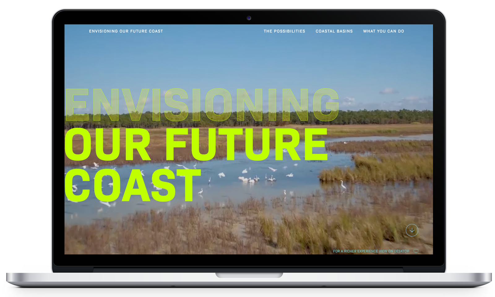 Envisioning Our Future Coast website - Deep Fried